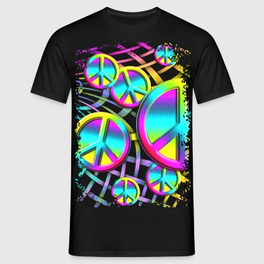 colourful PEACE web - Männer T-Shirt