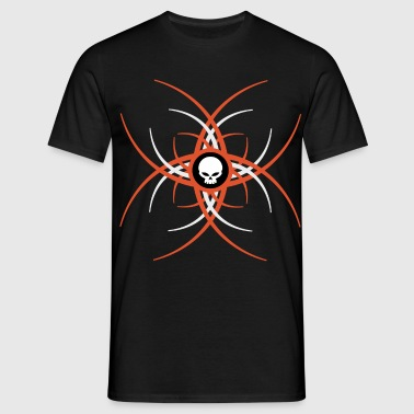 pinstrip skull - Men's T-Shirt