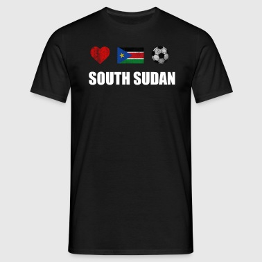 South Sudan Football Shirt - South Sudan Soccer Je - Men's T-Shirt