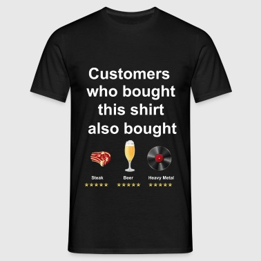 Funny T-Shirt Steak, Beer, Heavy Metal - T-shirt Homme