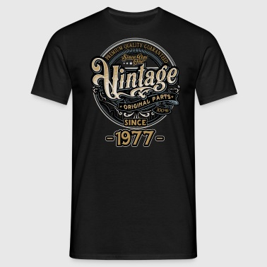 Day One Vintage since 1977 - Original Parts RAHMENLOS Birthday - Männer T-Shirt