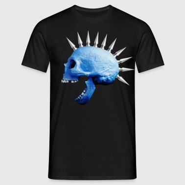 punkskull_blue - Men's T-Shirt