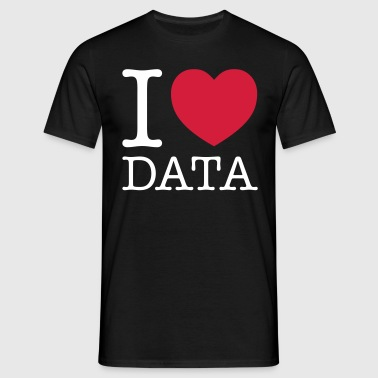 I Love Data - Engineer - Herre-T-shirt
