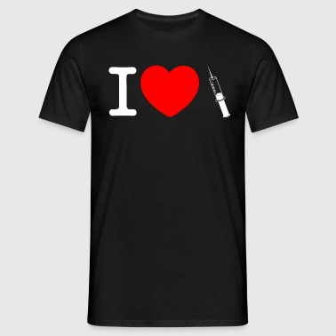 I know love injection- - Men's T-Shirt