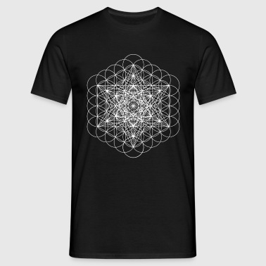 metatrons cube white - Men's T-Shirt