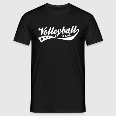 volleyball is life - retro - T-shirt Homme