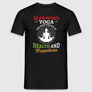 Yoga has been known to health and happiness - T-shirt Homme