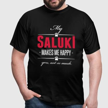 My Saluki makes me happy - Men's T-Shirt