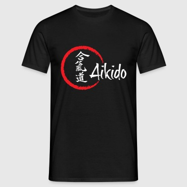 Aikido for sort - Herre-T-shirt