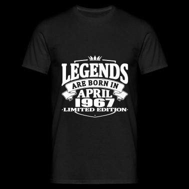 Legends are born in april 1967 - Men's T-Shirt