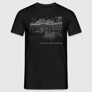 Alhambra, Court of the Lions 2 (dark) - T-shirt Homme