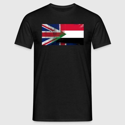 British Sudanese Half Sudan Half UK Flag - Men's T-Shirt