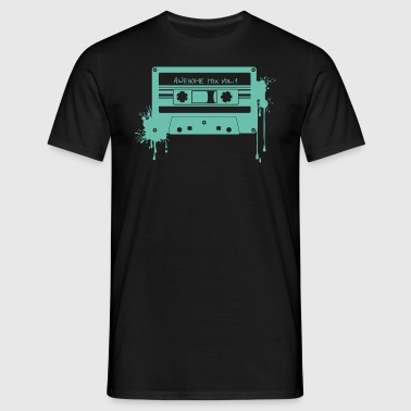 RETRO CASSETTE in turquoise - Mannen T-shirt