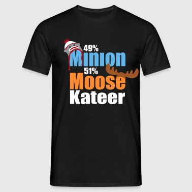 49% Minion 51% MooseKateer - Men's T-Shirt