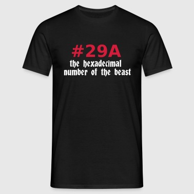 666 - satan - devil - the hexadecimal  number of the beast - Männer T-Shirt
