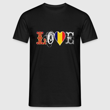 Love Romania White - Men's T-Shirt