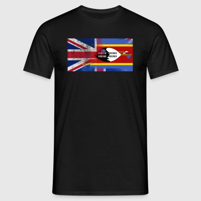 British Swazi Half Swaziland Half UK Flag - T-skjorte for menn