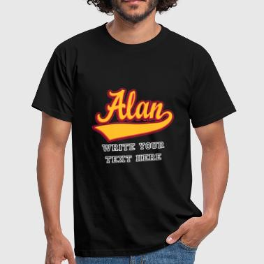Alan - The name as a sport swash - Men's T-Shirt