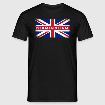 Birmingham Shirt Vintage United Kingdom Flagge - Männer T-Shirt