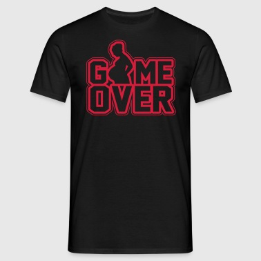 Pregnant - Game Over - Mannen T-shirt