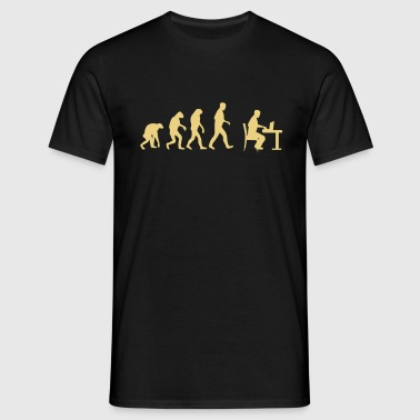 laptop evolution - Männer T-Shirt