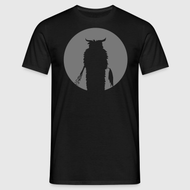 Moon with Krampus Silhouette - Men's T-Shirt