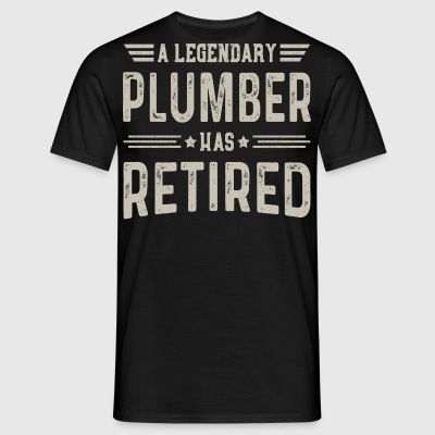 A Legendary Plumber Has Retired - Men's T-Shirt