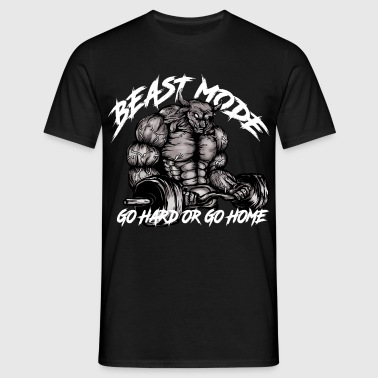 Gym Bull - Beast Mode - Mannen T-shirt