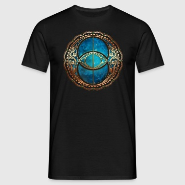 Vesica Piscis, Chalice Well, Avalon, Galaxy, Space - T-shirt Homme