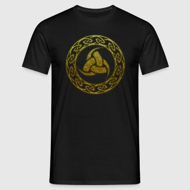 Triple Horn of Odin, Celtic Knot, Odin Symbol - Men's T-Shirt