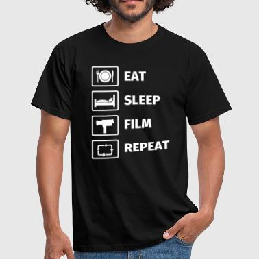 EAT SLEEP FILM REPEAT - Männer T-Shirt