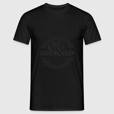 Bicycle Mountain Biking Addicted - Men's T-Shirt
