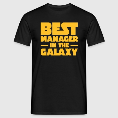 Best Manager In The Galaxy - Mannen T-shirt
