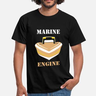 Powerboat Speed Boot Front 2 Logo - Männer T-Shirt