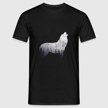 The lonely wolf - Men's T-Shirt