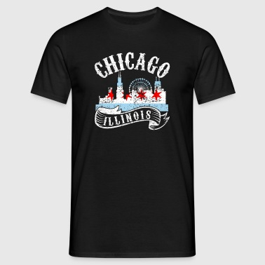 Chicago Illinois Vintage City Distressed - Men's T-Shirt