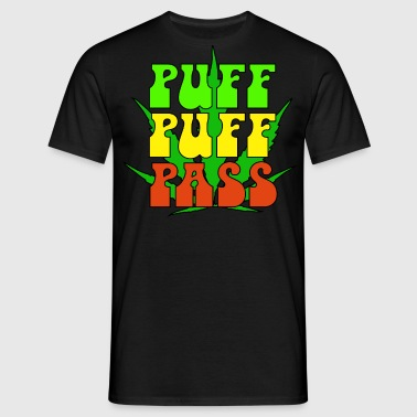 Puff puff pass - T-skjorte for menn
