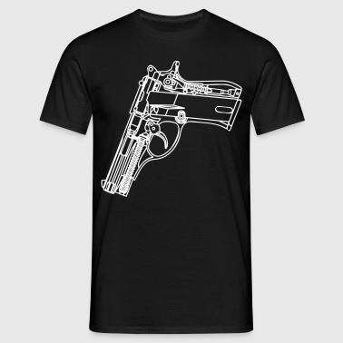 Collapse Gun Schematic - Men's T-Shirt
