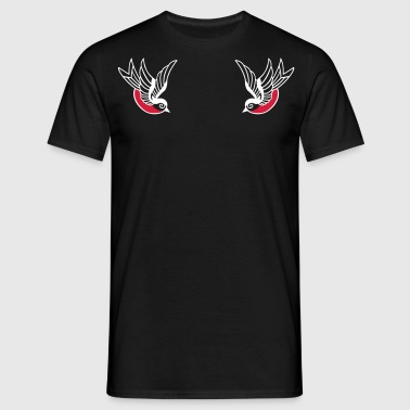Old School sparrows - T-shirt herr