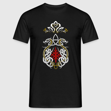 Viking drager triquetra - Herre-T-shirt