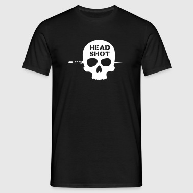 head shot - Männer T-Shirt