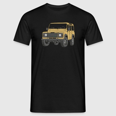 110 Defender lybian Sand 4x4 - Men's T-Shirt