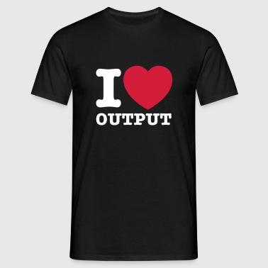 I love output © - Herre-T-shirt