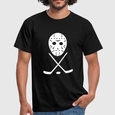 Ice Hockey Sticks, Puck and Mask - Men's T-Shirt