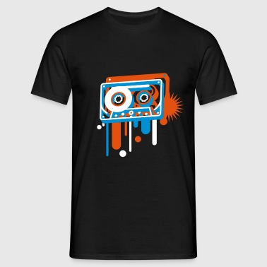 3D music cassette in graffiti style  - Men's T-Shirt