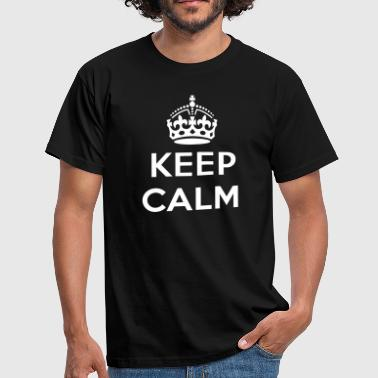 keep calm and your text - Men's T-Shirt