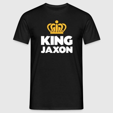 King jaxon name thing crown - Men's T-Shirt
