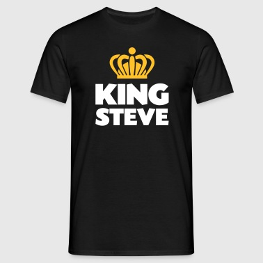King steve name thing crown - Men's T-Shirt