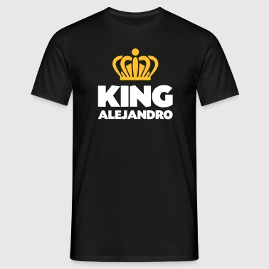 King alejandro name thing crown - Men's T-Shirt