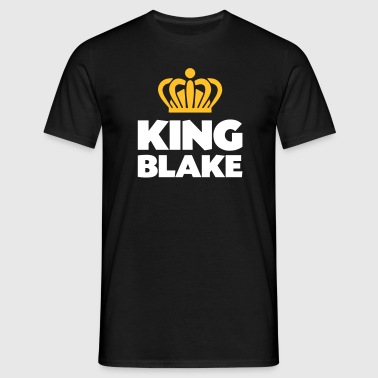 King blake name thing crown - Men's T-Shirt
